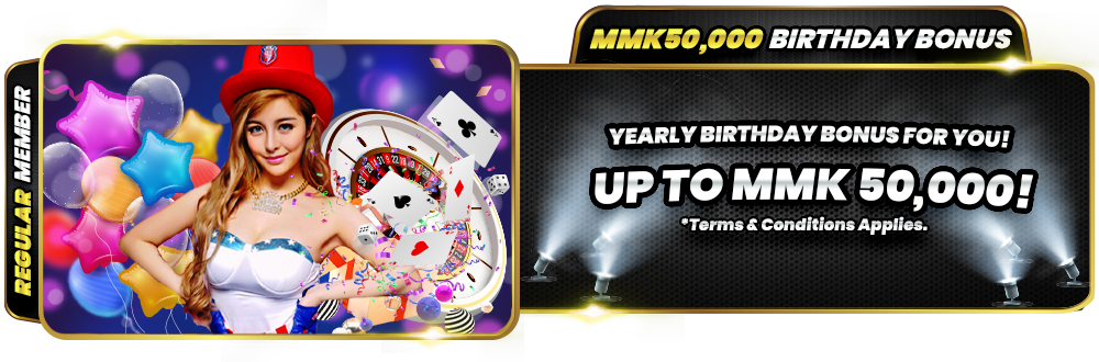 Joker123 Myanmar MMK50000 Birthday Bonus Up to MMK50000
